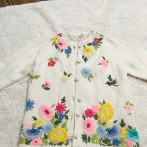 Vintage wool floral embroidered cardigan jacket 12